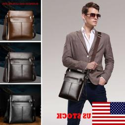 Men Genuine Leather Business Handbag Shoulder Bags Messenger