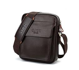 POLO FEILUN Men's Genuine Leather/PU Shoulder Bag Messenger