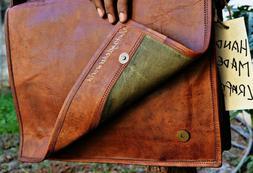 Men Genuine Vintage Brown Leather Messenger Bag Shoulder Lap