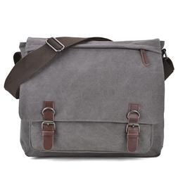 Dasein Men Handbag Vintage Unisex Large Canvas Messenger Bag