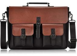 Men Laptop Bag, 15.6 Inch Laptop Briefcases Multi-Pocket Lap