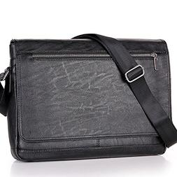 Men Laptop Computer Messenger Bags Black Business Crossbody