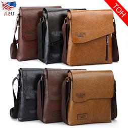 Men Leather Messenger Shoulder Bag Business Crossbody JEEP T