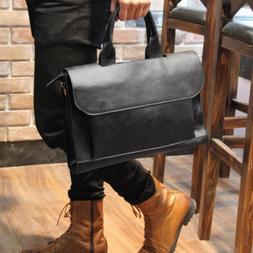 Men Leather Messenger Shoulder Bags Business Casual Briefcas