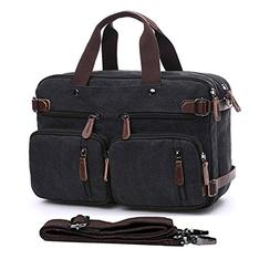"15.6-17.3"" Men's Messenger Bag Canvas Laptop Bag, Gudui Hybr"