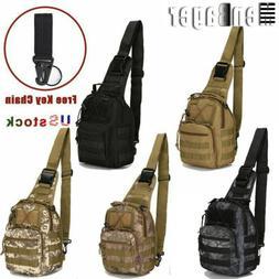 Men Molle Tactical Sling Chest Bag Assault Pack Messenger Ba