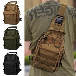 men molle tactical sling chest bag assault