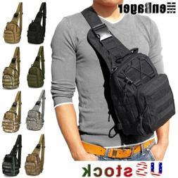 Men Molle Tactical Sling Chest Bag Backpack Assault Pack Mes