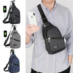 Men Nylon Messenger Shoulder Bag Sling Chest Pack Crossbody