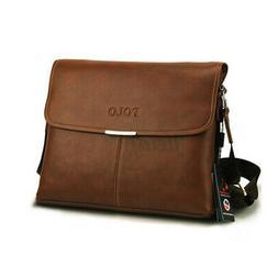 Men's Briefcase Leather Business Shoulder Bag Guy Satchel Ba