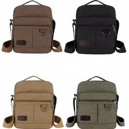 Men's Canvas Bag Shoulder Messenger School Bags Vintage Mili