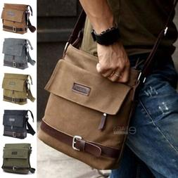 Men's Canvas Crossbody Hiking Military Messenger Sling Shoul