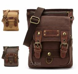 Men's Canvas Mailbag Sling Bag Cross Body Hiking Messenger S