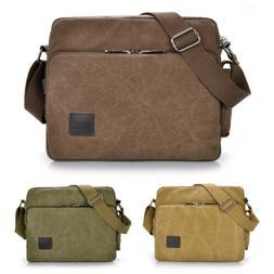 Men's Canvas Shoulder Bag Military Messenger Briefcases Cros