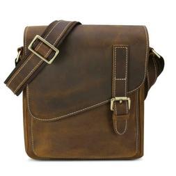 Men's Crossbody Shoulder Bag Kattee Small Leather Messenger