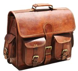 men s genuine leather messenger laptop satchel