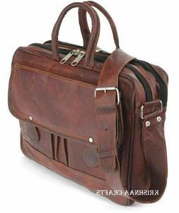 Men's Genuine Vintage Leather Messenger Bag Satchel Shoulder