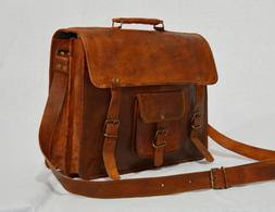 Men's Large Leather Messenger Bag Shoulder Business Briefcas
