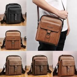 Men's Leather Bag Vintage Shoulder Cross Body Handbag Tote M
