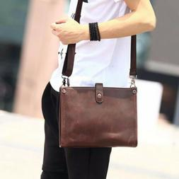 Men's Leather Crossbody Bag Shoulder Messenger Tablet Bags B