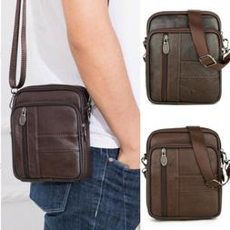 Men's Leather Crossbody Messenger Shoulder Bags Handbag Satc