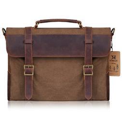 Kattee Men Fashion Leather Messenger Shoulder Bag Vintage Br