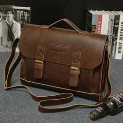 3a21b6a2c5 Men s Leather Messenger Shoulder Bags Business Work Briefcas