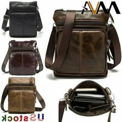 MVA Men's Messenger Bag Genuine Leather Business Shoulder Sm