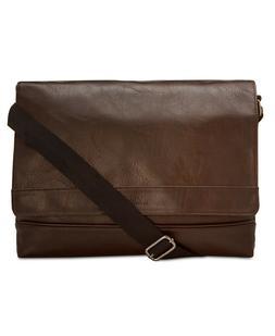 Kenneth Cole Reaction Men's Pebbled Laptop Messenger Bag Wor