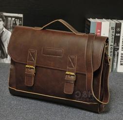 men s pu leather briefcase laptop bag
