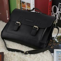 Men's Real Leather Messenger Shoulder Bag Laptop Briefcase B
