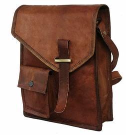 Men's Rustic Genuine Leather Messenger Shoulder Bag Small Cr