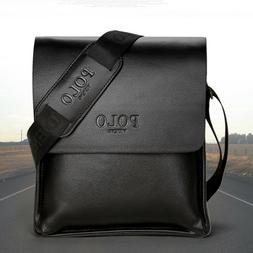Men's Shoulder Messenger Bag Male Leather Crossbody Bags POL
