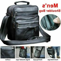 Men's Soft Leather Messenger Bags Shoulder Bag Crossbody Han
