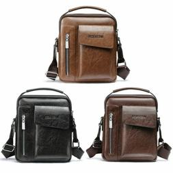 Men's Soft Leather Messenger Satchel Bags Cross Body Tote Ha