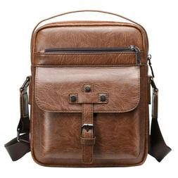 Men's Soft Leather Shoulder Bags Messenger Satchel Crossbody