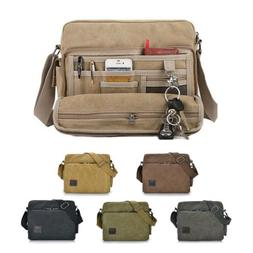 Men/'s Vintage Canvas Messenger Shoulder Bag Crossbody Sling School Bags Satchel
