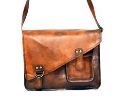 Men's Vintage Handmade Genuine Leather Laptop Shoulder Brief