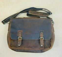 KATTEE Men's Vintage Genuine Leather  Messenger Bag Fits 16