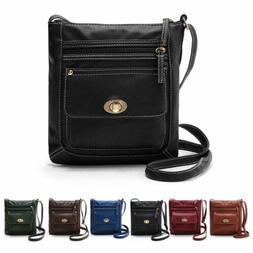 Men's Women Shoulder Bags Handbag Purse Leather Messenger Cr