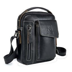 Men Shoulder Small Bag Leather Messenger Satchel Cross Body