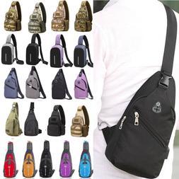 Men Sling Chest Bags Crossbody Messenger Shoulder Travel Spo