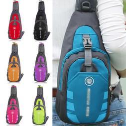 Men Small Chest Bag Pack Sport Shoulder Sling Backpack Cross