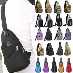 Men Sports Canvas Sling Bag Chest Crossbody Messenger Should