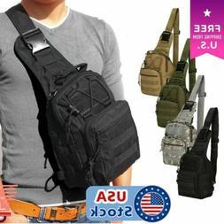 Men Tactical Backpack Molle Sling Chest Shoulder Bag Assault