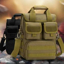 Men Tactical Messenger Shoulder Sling Bag Molle Crossbody Pa