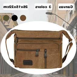 Men Vintage Shoulder Messenger Bag Canvas Satchel School Mil