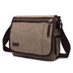 Mens Bag Canvas Casual Travel Crossbody Messenger Large Capa