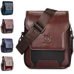 Mens Genuine Leather Shoulder Messenger Bag Small Business B