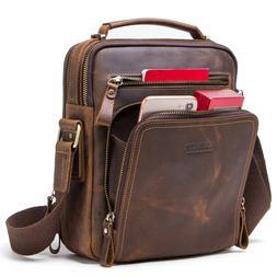 Mens Genuine NUBUCK Leather Handbag Briefcase Tote Laptop Sh